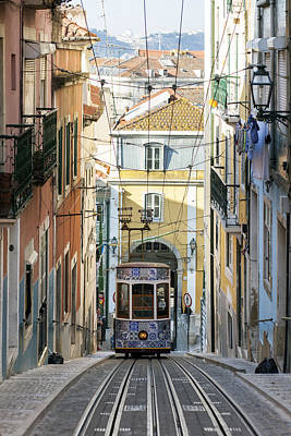 Funicular Photograph - The Bica Funicular by Andre Goncalves