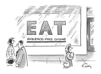 Ambience Drawing - New Yorker May 7th, 2007 by Mike Twohy