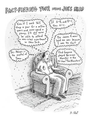 Tour Drawing - New Yorker March 3rd, 2008 by Roz Chast