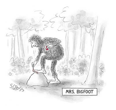 Mrs. Big Foot Art Print