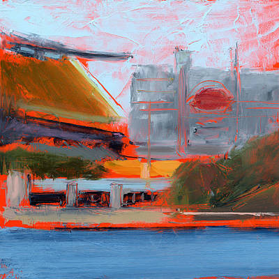 Football Painting - Rcnpaintings.com by Chris N Rohrbach
