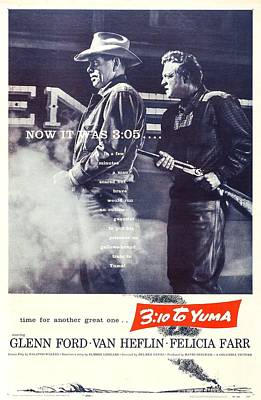 310 To Yuma, Us Poster, From Left Glenn Art Print by Everett