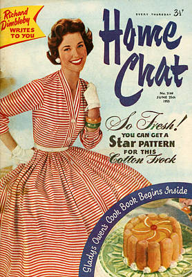 1950s Uk Home Chat Magazine Cover Art Print