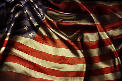 National Photograph - American Flag  by Les Cunliffe