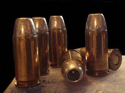 Ammunition Photograph - Bullet Art 32 Caliber Bullets 3514 by Lesa Fine
