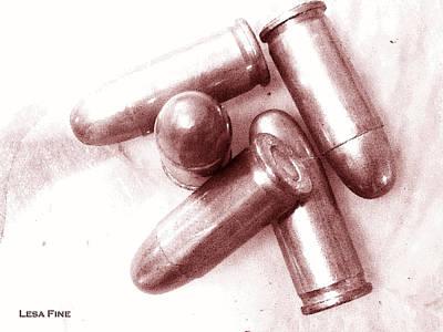 Bullet Art - 32 Caliber Bullets_1 Art Print by Lesa Fine