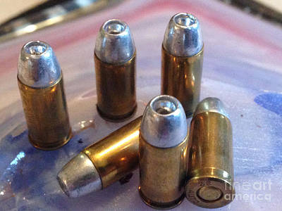 Bullet Art 32 Caliber Hollow Points 1c Art Print by Lesa Fine