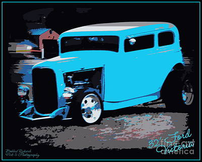 Photograph - 32 Ford Victoria  by Bobbee Rickard