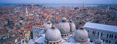 Doges Palace Photograph - High Angle View Of Buildings In A City by Panoramic Images