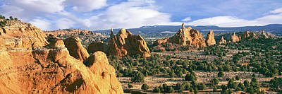 Kodachrome Basin Photograph - Rock Formations On A Landscape by Panoramic Images