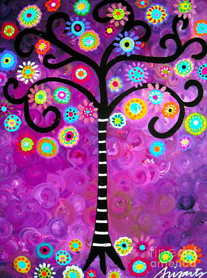 Print featuring the painting Tree Of Life by Pristine Cartera Turkus
