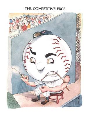 Sports Drawing - New Yorker June 10th, 2002 by Barry Blitt