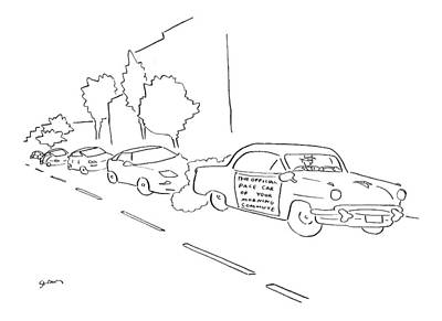 Sport Car Drawing - New Yorker January 16th, 2006 by Michael Shaw