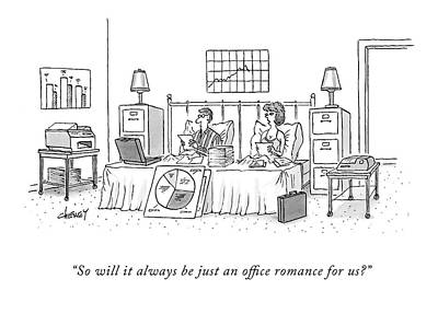 File Cabinets Drawing - So Will It Always Be Just An Office Romance by Tom Cheney