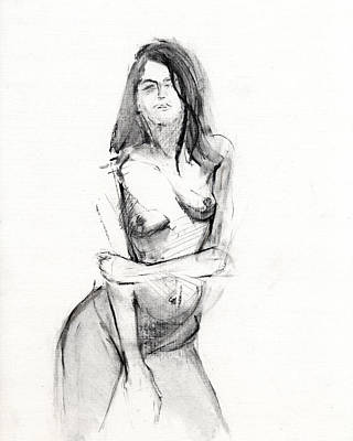 Simple Drawing - Rcnpaintings.com by Chris N Rohrbach