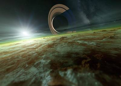 Planetary System Photograph - Alien Planetary System by Detlev Van Ravenswaay