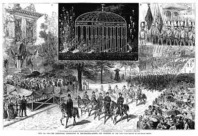 Fireworks Painting - Centennial Fair, 1876 by Granger