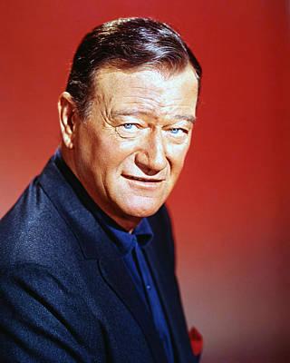 Photograph - John Wayne by Silver Screen