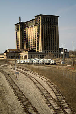 Depot Photograph - Michigan Central Station by Gary Marx