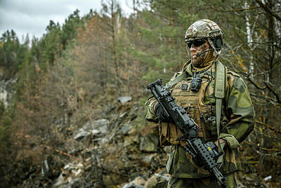 Photograph - Norwegian Rapid Reaction Special Forces by Oleg Zabielin