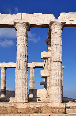 Greek Photograph - Poseidon Temple by George Atsametakis