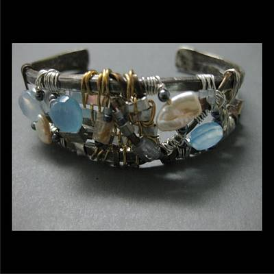 Jewelry - 330 Forged And Woven Blue Quartz by Brenda Berdnik