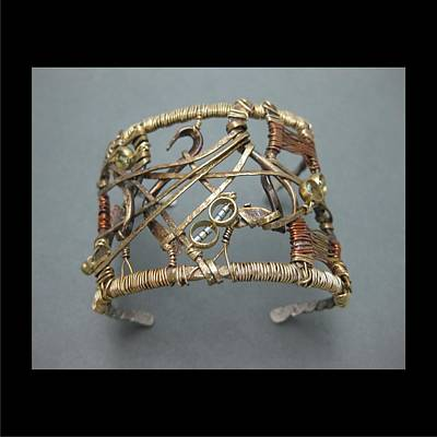 Jewelry - 331 Double Circle Cuff by Brenda Berdnik