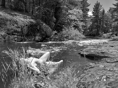 Photograph - 3323 Beautiful River Nude by Chris Maher