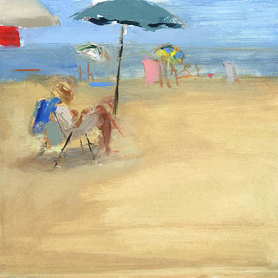 Beach Chair Painting - Rcnpaintings.com by Chris N Rohrbach