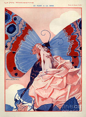 Jacques Drawing - 1920s France La Vie Parisienne by The Advertising Archives