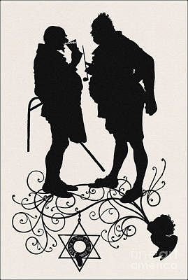 A Silhouette Illustration For Midsummer Night Dream By Shakespea Art Print