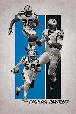 Carolina Panthers Art Print by Joe Hamilton