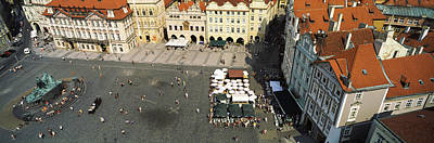 Prague Photograph - High Angle View Of Buildings In A City by Panoramic Images