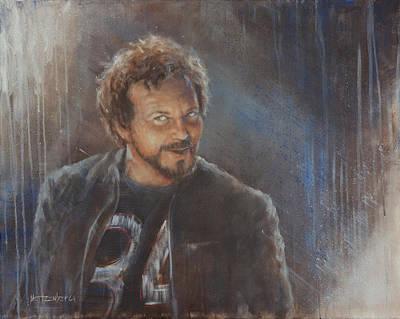 Eddie Vedder Painting - Vedder 34 by Josh Hertzenberg