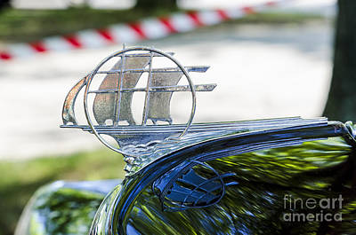Photograph - '34 Plymouth Sedan Hood Ornament by Paul Mashburn