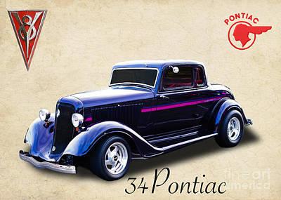 34 Pontiac Art Print by Jim  Hatch