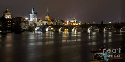 Photograph - Prague By Night by Jorgen Norgaard