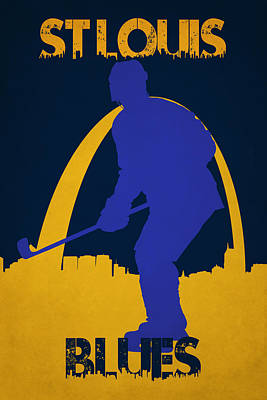 Hockey Photograph - St Louis Blues by Joe Hamilton