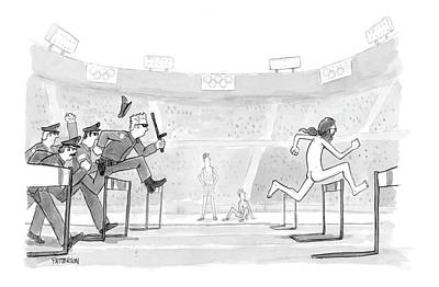 Olympics Drawing - New Yorker August 30th, 2004 by Jason Patterson