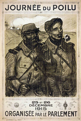 Infantryman Painting - World War I French Poster by Granger
