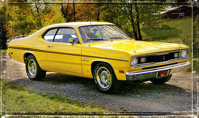 340 Duster Art Print by Thomas Schoeller