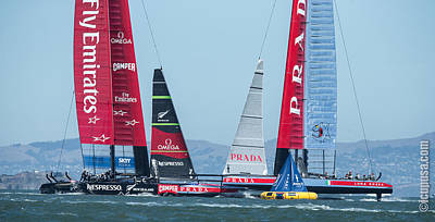 34th America's Cup In The Box Original by John Mangino
