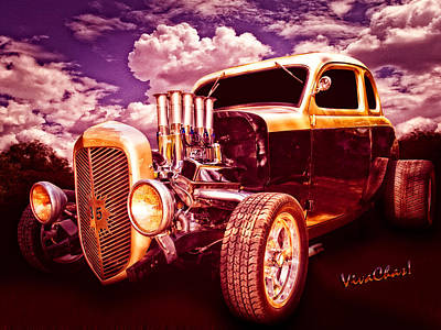 Rat Rod Photograph - 35 Black And Tan Coupe by Chas Sinklier
