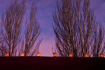 Luminaria Photograph - Santa Fe, New Mexico, United States by Julien Mcroberts