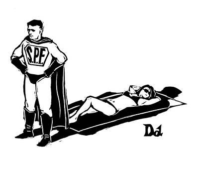 Captionless; Superhero Sunblock Art Print