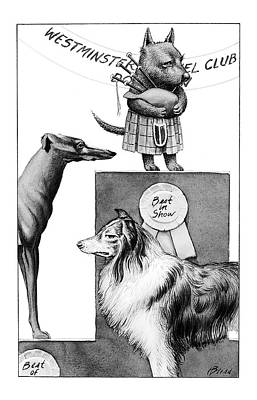 Scotties Drawing - New Yorker February 14th, 2000 by Harry Bliss