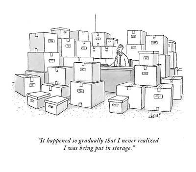 Box Drawing - It Happened So Gradually That I Never Realized by Tom Cheney