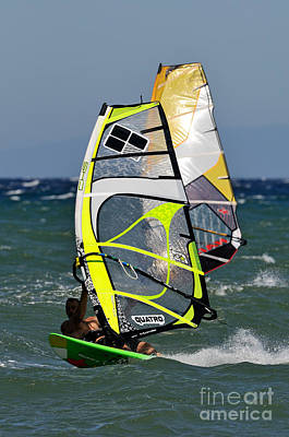 Photograph - Windsurfing by George Atsametakis