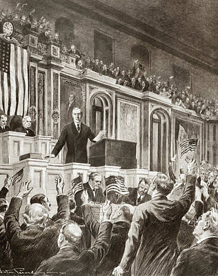 Washington D.c Drawing - Woodrow Wilson (1856-1924) by Granger