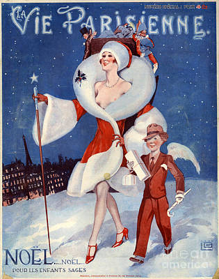 Christmas Present Drawing - 1920s France La Vie Parisienne Magazine by The Advertising Archives